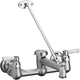 Elkay LKB940C Commercial Service/Utility Wall Mount Faucet with Bucket Hook Rough (Chrome)