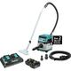 Makita XCV08PT 18V X2 LXT Lithium-Ion (36V) Brushless Cordless 2.1 Gal. HEPA Filter Dry Dust Extractor/Vacuum Kit, AWS (5.0Ah)