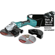 Makita XAG23ZU1 18V X2 LXT Lithium-Ion Brushless Cordless 9 in. Paddle Switch Cut-Off/Angle Grinder with Electric Brake and AWS (Tool Only)