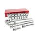 Sunex 4421 21 Pc 3/4 in. Drive SAE Standard Chrome Socket Set