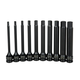 Sunex 2638L 10-Piece 1/2 in. 6 in. Long Drive Impact Hex Driver SAE Set