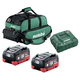 Metabo US625369002 Ultra-M 8 Ah LiHD Battery (2-Pack), Charger, and Canvas Bag Kit