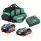 Metabo US625369011 Ultra-M 4 Ah and 8 Ah LiHD Battery (2-Pack), Charger, and Canvas Bag Kit