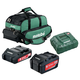 Metabo US625596052 Ultra-M 2 Ah and 5.2 Ah Lithium-Ion Battery (2-Pack), Charger, and Canvas Bag Kit