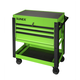 Sunex 8035XTLG 3 Drawer Slide Top Utility Cart with Power Strip (Lime Green)