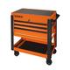 Sunex 8035XTOR 3 Drawer Slide Top Utility Cart with Power Strip (Orange)