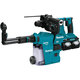 Makita XRH08PTW 18V X2 LXT (36V) 5.0 Ah Brushless Cordless 1-1/8 in. AVT Rotary Hammer Kit, accepts SDS-PLUS bits with HEPA Dust Extractor