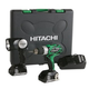 Hitachi DS18DSAL 18V Cordless HXP Lithium-Ion 2-Tool Combo Kit with 2 HXP Batteries
