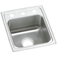 Elkay PSR15172 Celebrity Top Mount 15 in. x 17-1/2 in. Single Bowl Bar Sink (Stainless Steel)