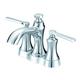 Danze D307028 Draper 2 Handles Centerset 1.2 GPM Lavoratory Faucet with Metal Pop-Up Drain (Chrome)