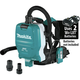 Makita XCV10ZX 18V X2 LXT Lithium-Ion (36V) Brushless 1/2 Gallon HEPA Filter AWS Capable Backpack Dry Dust Extractor (Tool Only)