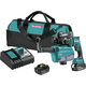 Makita XRH12TW 18V LXT Lithium-Ion 5.0 Ah Brushless 11/16 in. AVT SDS-PLUS AWS Capable Rotary Hammer Kit with HEPA Dust Extractor