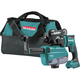 Makita XRH12ZW 18V LXT Lithium-Ion Brushless 11/16 in. AVT SDS-PLUS AWS Capable Rotary Hammer with HEPA Dust Extractor (Tool Only)