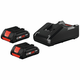 Bosch GXS18V-11N25 CORE18V 4 Ah Compact Lithium-Ion Battery (2-Pack) and Charger Kit