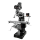 JET 894115 ETM-949 Mill with 2-Axis ACU-RITE 203 DRO and X, Y, Z-Axis JET Powerfeeds and USA Made Air Draw Bar