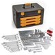 GearWrench 80972 243-Piece 12 Point 1/4 in., 3/8 in. and 1/2 in. Mechanics Tool Set with 3 Drawer Storage Box
