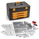 GearWrench 80966 243-Piece 6 Point 1/4 in., 3/8 in. and 1/2 in. Mechanics Tool Set with 3 Drawer Storage Box