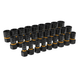 GearWrench 84784 28-Piece 1/4 in. and 3/8 in. Drive Bolt Biter Impact Extraction Socket Set