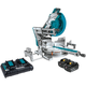 Makita XSL08PT 18V X2 LXT Lithium-Ion (36V) Brushless Cordless 12 in. Dual-Bevel Sliding Compound Miter Saw Kit with AWS and Laser (5 Ah)