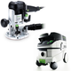 Festool P26574339 Plunge Router with CT 26 E 6.9 Gallon HEPA Mobile Dust Extractor