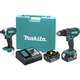 Factory Reconditioned Makita XT261M-R LXT Lithium-Ion Impact and Hammer Drill Combo Kit
