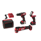 Skil CB738901 12V PWRCore 12 Lithium-Ion Brushless 1/2 in. Cordless 4-Tool Combo Kit (2 Ah)