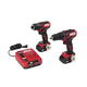 Skil CB736701 PWRCore 12 12V Brushless Drill Driver and Impact Driver Kit with (2) 2 Ah Lithium-Ion Batteries and PWRJUMP Charger