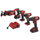 Skil CB739601 PWRCore 20 20V 4-Tool Combo Kit with (2) 2 Ah Lithium-Ion Batteries and Charger