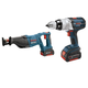 Bosch CLPK201-181 18V Cordless Lithium-Ion 1/2 in. Hammer Drill and Impact Driver Combo Kit