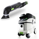 Festool P36567856 Deltex Detail Sander with CT 36 E 9.5 Gallon HEPA MobileDust Extractor