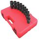 Sunex 2657 9-Piece 1/2 in. Drive SAE Universal Impact Socket Set