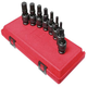Sunex 2749 8-Piece 1/2 in. Drive Metric Universal Hex Drive Impact Socket Set