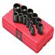 Sunex 3674 12-Piece 3/8 in. 12-Point SAE Impact Socket Set