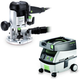 Festool PM574339 Plunge Router with CT MINI 2.6 Gallon Mobile Dust Extractor