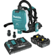 Makita XCV10PTX 18V X2 LXT (36V) Lithium-Ion Brushless 1/2 Gallon Cordless Backpack Dry Dust Extractor Kit with HEPA Filter, AWS Capable (5 Ah)