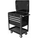 Homak BK06032000 35 in. Professional 4-Drawer Service Cart - Black