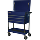 Homak BL05500200 34 in. Professional 3-Drawer Service Cart - Blue