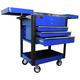 Homak BL06043500 35 in. 4-Drawer Slide Top Cart - Blue