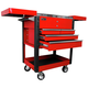 Homak RD06043500 35 in. 4-Drawer Slide Top Cart - Red