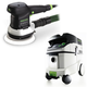 Festool P36571794 6 in. Random Orbital Finish Sander with CT 36 E 9.5 Gallon HEPA Mobile Dust Extractor