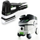 Festool P26567852 Duplex Linear Detail Sander with CT 26 E 6.9 Gallon HEPA Mobile Dust Extractor