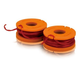 Worx WA0004 Replacement Line Spool for WG150 151 165 166 GT Trimmers (2-Pack)