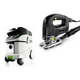 Festool P36561455 Trion D-Handle Jigsaw with CT 36 E 9.5 Gallon HEPA Mobile Dust Extractor