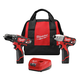 Milwaukee 2497-22 M12 12V Cordless Lithium-Ion 3/8 in. Hammer Drill and Impact Driver Combo Kit