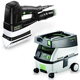 Festool PM567852 Duplex Linear Detail Sander with CT MINI 2.6 Gallon Mobile Dust Extractor