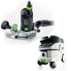 Festool P26574368 Modular Trim Router with CT 26 6.9 E Gallon HEPA Mobile Dust Extractor