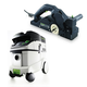 Festool P36574553 Planer with CT 36 E 9.5 Gallon HEPA Mobile Dust Extractor