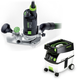 Festool PD574368 Modular Trim Router with CT MIDI 3.3 Gallon Mobile Dust Extractor