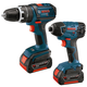Bosch CLPK241-181 18V Cordless Lithium-Ion 1/2 in. Hammer Drill and Impact Driver Combo Kit