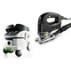 Festool P26561455 Trion D-Handle Jigsaw with CT 26 E 6.9 Gallon HEPA Mobile Dust Extractor